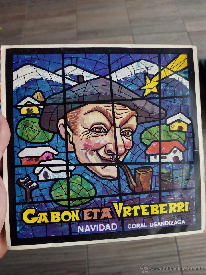 LP CANCIONES DE NAVIDAD EN EUSKERA GABON ETA URTEBERRI (CORAL USANDIZAGA) (Música - Discos - Singles Vinilo - Étnicas y Músicas del Mundo)