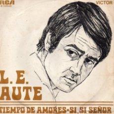 Discos de vinilo: LUIS EDUARDO AUTE, SG, TIEMPO DE AMORES + 1, AÑO 1970. Lote 51797018