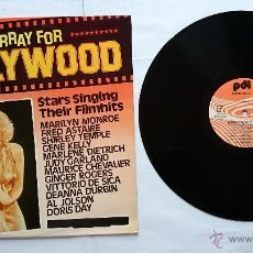 Discos de vinilo: VARIOS - HURRAY FOR HOLLYWOOD (STARS SINGING THEIR FILMHITS) (1985). Lote 51799518