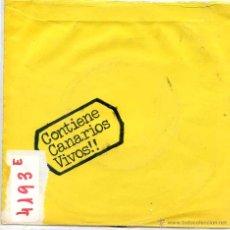 Discos de vinilo: LOS CANARIOS / REVIVAL / CHAOS (SINGLE 1972). Lote 51804473
