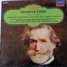 Discos de vinilo: GIUSEPPE VERDI. Lote 51806064