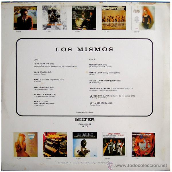 Discos de vinilo: Los Mismos - Jefe Ironside - Lp Spain 1973 - Belter 22.709 - Foto 2 - 51806150