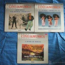 Discos de vinilo: 3 LP CINE Y MUSICA (GENE KELLY Y EL MUSICAL AMERICANO-EL MUSICAL AMERICANO II-ARITMO DE MARCHA) (LP). Lote 55396885