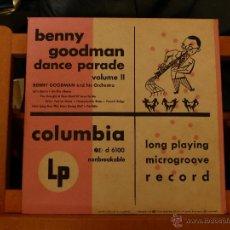 Discos de vinilo: BENNY GOODMAN DANCE PARADE VOLUME II (33 1/3 RPM 1950 MADE IN USA ) MUY DIFÍCIL . Lote 51816685