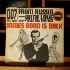 Discos de vinilo: 007 FROM RUSIA WITH LOVE : JOHN BARRY (JAMES BOND IS BACK, MADE IN ENGLAND - 1963 ) MUY DIFÍCIL . Lote 51817565