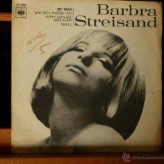 Discos de vinilo: BARBARA STREISAND - MY MAN (MUY DIFÍCIL) MADE IN ENGLAND 1965. Lote 52704764