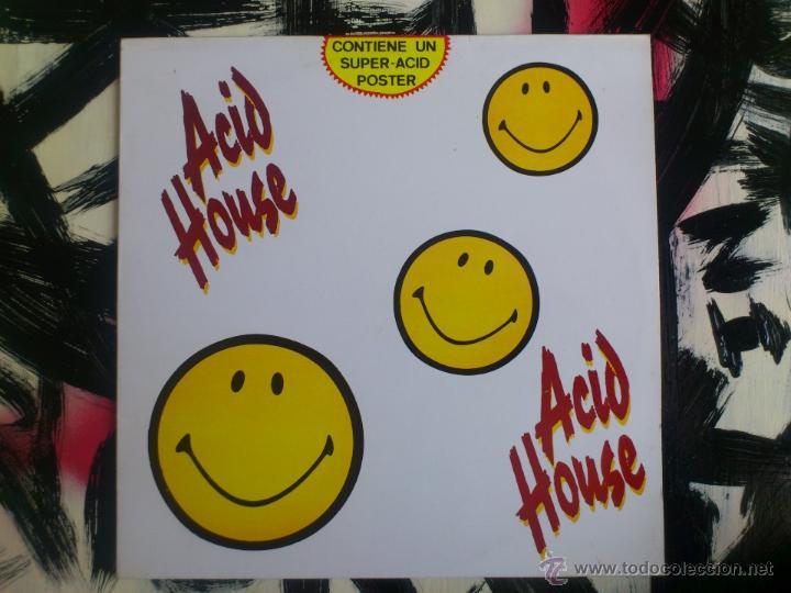 ACID HOUSE - LP - VINILO - CONTIENE SUPER ACID POSTER - BLANCO Y NEGRO - 1989 (Música - Discos - LP Vinilo - Techno, Trance y House)