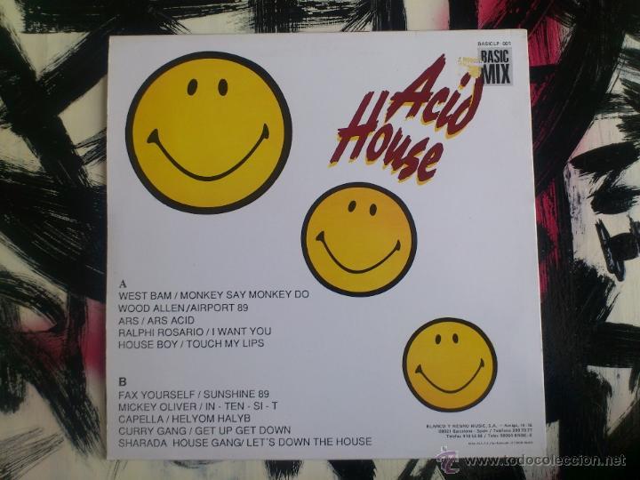 Discos de vinilo: ACID HOUSE - LP - VINILO - CONTIENE SUPER ACID POSTER - BLANCO Y NEGRO - 1989 - Foto 2 - 51868962