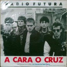 Discos de vinilo: RADIO FUTURA. A CARA O CRUZ- 37 GRADOS. ARIOLA, ESP. 1987. MAXI LP PROMOCIONAL (COMO NUEVO). Lote 51881915