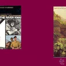 Discos de vinilo: THE BRIDGE ON THE RIVER KWAI -EL PUENTE SOBRE EL RIO KWAI LP Y LIBRO. Lote 44809555