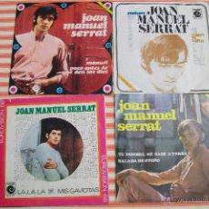Discos de vinilo: 4 SINGLES DE SERRAT AÑOS 60. Lote 51890198