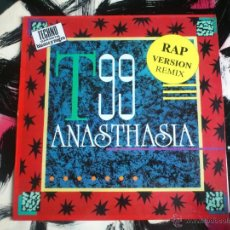 Discos de vinilo: T99 - ANASTHASIA - RAP VERSION REMIX - MAXI - VINILO - BLANCO Y NEGRO - 1991. Lote 51891351