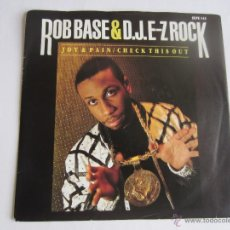 Discos de vinilo: ROB BASE & D.J. E-Z ROCK - JOY & PAIN SINGLE 1989 UK. Lote 51892179