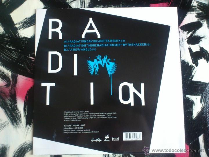 Discos de vinilo: THE HACKER - RADIATION - REMIXES - MAXI - VINILO - GOODLIFE - 2005 - Foto 2 - 51893474