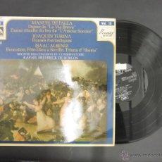 Discos de vinilo: DISCO VINILO SOCIETE DES CONCERTS DU CONSERVATOIRE RAFAEL FRUHBECK EMI LA VOZ DE SU AMO 1970 DCL004. Lote 51922820