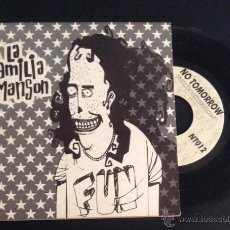 Discos de vinilo: SINGLE EP VINILO LA FAMILIA MANSON NO TOMORROW RECORDS PUNK ROCK. Lote 51924939