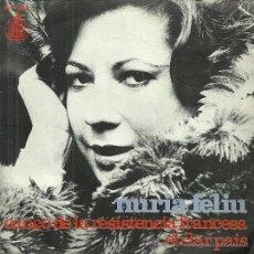 Discos de vinilo: NURIA FELIU SINGLE SELLO HISPAVOX AÑO 1973 EDITADO EN ESPAÑA . Lote 51929491