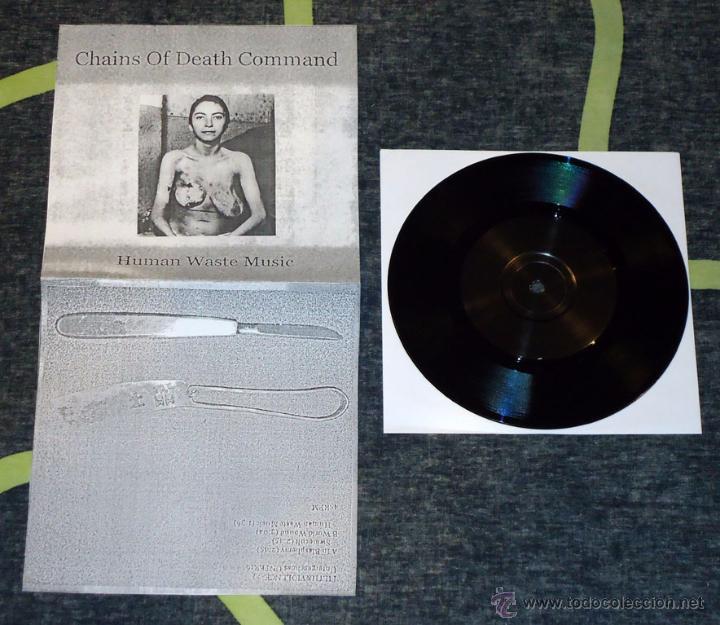 """CHAINS OF DEATH COMMAND - HUMAN WASTE MUSIC - 7"""" [FILTH & VIOLENCE / UNTERGESCHOSS, 2012] NOISE PUNK (Música - Discos de Vinilo - EPs - Punk - Hard Core)"""