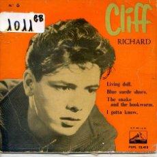 Discos de vinilo: CLIFF RICHARD & THE SHADOWS / LIVING DOLL / BLUE SUEDE SHOES + 2 (EP 1960). Lote 51931106
