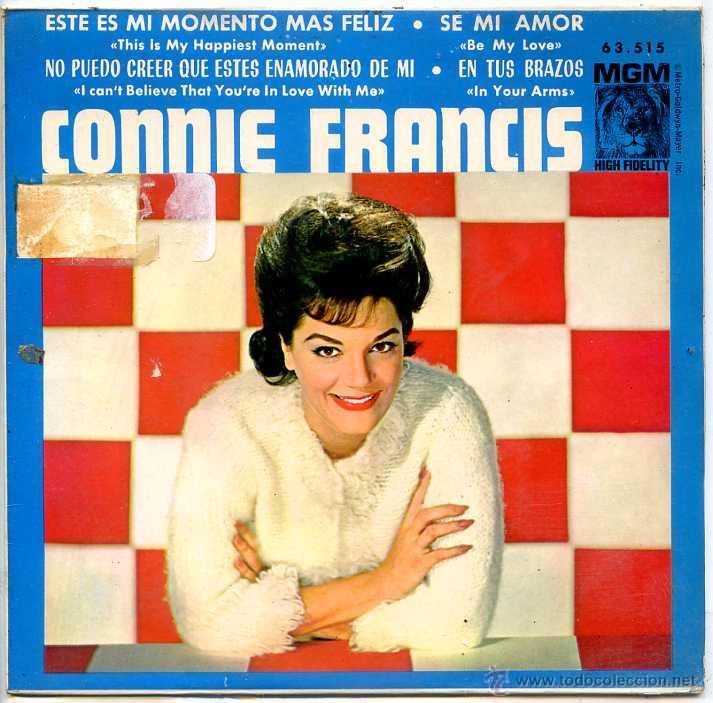 CONNIE FRANCIS / ESTE ES MI MOMENTO MAS FELIZ / SE MI AMOR + 2 (EP 1964) (Música - Discos de Vinilo - EPs - Solistas Españoles de los 50 y 60)