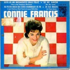 Discos de vinilo: CONNIE FRANCIS / ESTE ES MI MOMENTO MAS FELIZ / SE MI AMOR + 2 (EP 1964). Lote 51931151