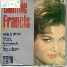 Discos de vinilo: CONNIE FRANCIS & THE JORDANAIRES / JAMAS TE OLVIDARE / SOLITARIO + 2 (EP 1962). Lote 51931539