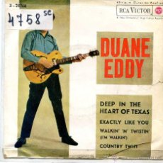 Discos de vinilo: DUANE EDDY / DEEP IN THE HEART OF TEXAS / COUNTRY TWIST + 2 (EP 1962). Lote 51931903