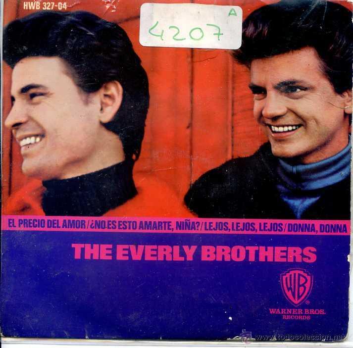 THE EVERLY BROTHERS / EL PRECIO DEL AMOR / DONNA DONNA + 2 (EP 1965) (Música - Discos de Vinilo - EPs - Pop - Rock Internacional de los 50 y 60)