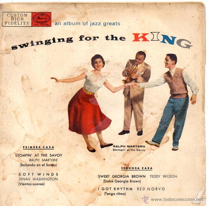 BAILANDO CON LOS GRANDES DEL JAZZ, EP, DINAH WASHINGTON - SOFT WINDS + 3, AÑO 1959 (Música - Discos de Vinilo - EPs - Jazz, Jazz-Rock, Blues y R&B)