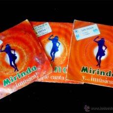 Discos de vinilo: TRES SINGLES DE - MIRINDA Y MUSICA..- AÑOS 1969 Y 70. Lote 51960176