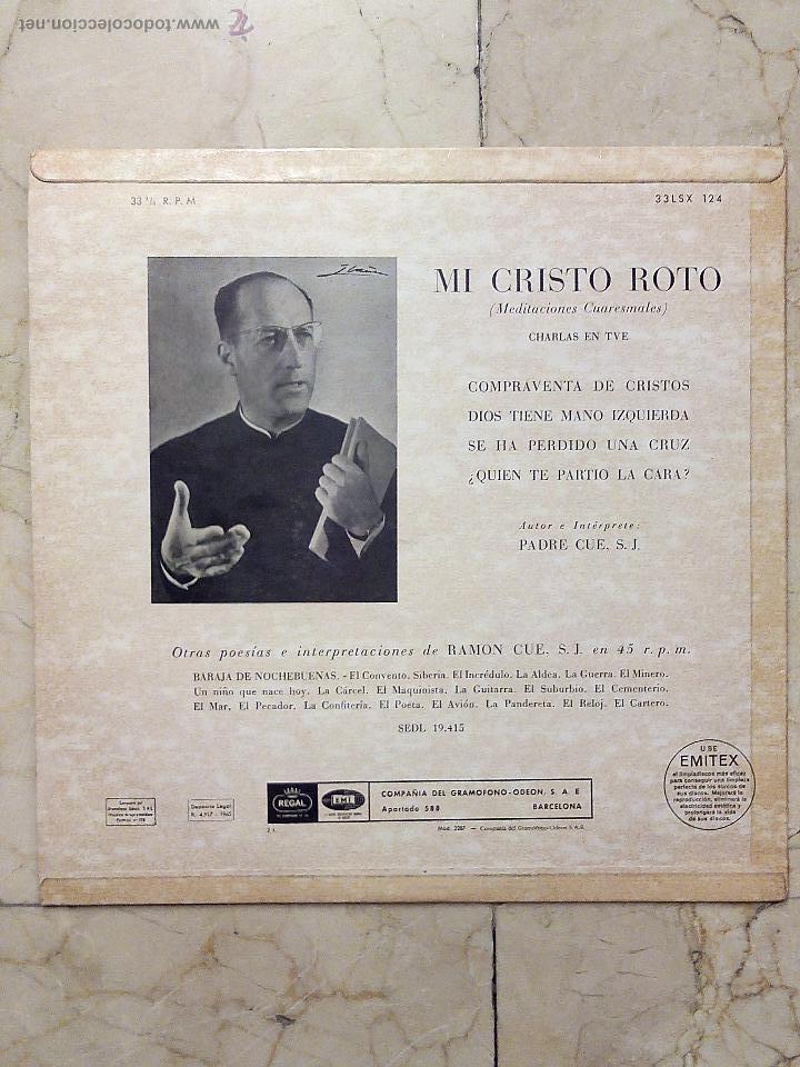 Lp Mi Cristo Roto Charlas Cuaresmales En Tve Kaufen Vinyl