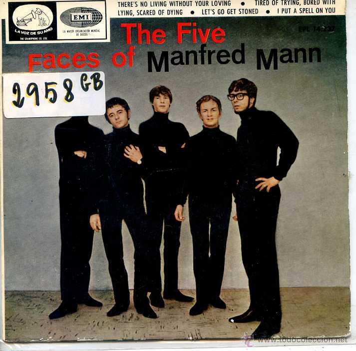MANFRED MANN / THERE'S NO LIVING WITHOUT LOVING / LET'S GO GET STONED + 2 (EP 1966) (Música - Discos de Vinilo - EPs - Pop - Rock Extranjero de los 50 y 60)