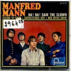 Discos de vinilo: MANFRED MANN / HA! HA! SAID THE CLOWN / FEELING SO GOOG + 2 (EP 1967). Lote 51964711