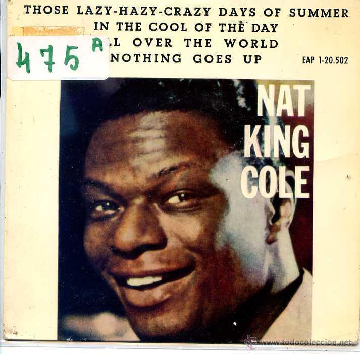 NAT KING COLE / IN THE COOL OF THE DAY / ALL OVER THE WORLD + 2 (EP 1963) (Música - Discos de Vinilo - EPs - Pop - Rock Internacional de los 50 y 60)