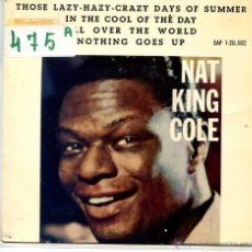 Discos de vinilo: NAT KING COLE / IN THE COOL OF THE DAY / ALL OVER THE WORLD + 2 (EP 1963). Lote 51965272