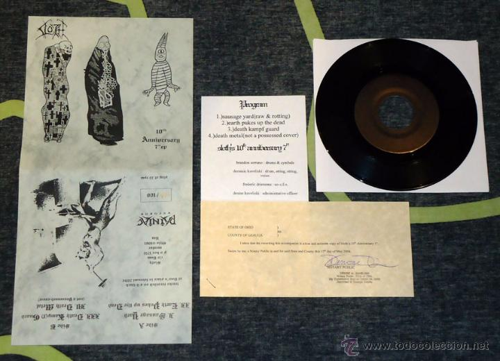 Discos de vinilo: Sloth - 10th Anniversary 7EP [Painiac Records, 2004 · #28/100] Lo-Fi Experimental Sludge Metal - Foto 1 - 51968253