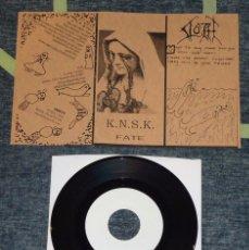 Discos de vinilo: SLOTH / K.N.S.K. - SPLIT - 7'' [LIM. 150]. Lote 51968446