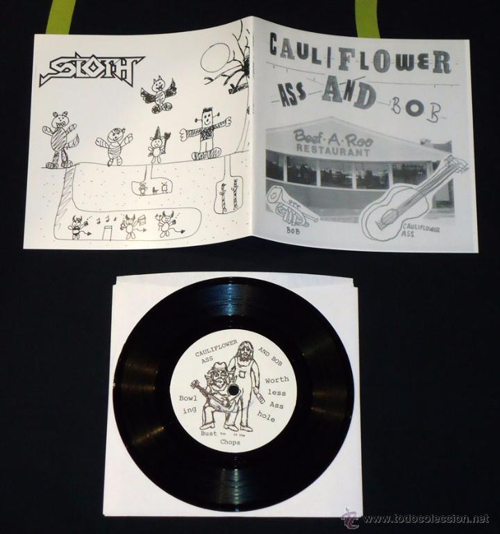 SLOTH / CAULIFLOWER ASS AND BOB - SPLIT - 7'' (Música - Discos de Vinilo - EPs - Electrónica, Avantgarde y Experimental)