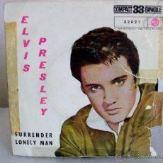 Discos de vinilo: ELVIS PRESLEY - A.SURRENDER / B.LONELY MAN - COMPACT 33 RPM SINGLE, RCA ESPAÑA 1961. Lote 51962515