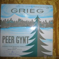 Discos de vinilo: GRIEG. PEER GYNT SUITE Nº 1. CONCERT HALL. EP. EDICION INGLESA. VINILO IMPECABLE. Lote 51979657
