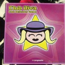 Discos de vinilo: CLUB DIVA - CLUB DELICIOUS THEME - MAXI - VINILO - TEMPROGRESSIVE - BYTE - 2002. Lote 51984191