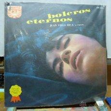 Discos de vinilo: BOLEROS ETERNOS -JUAN VILLA RICA Y ORQUESTA-. Lote 51993091