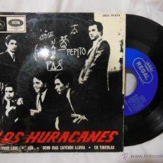 Discos de vinilo: LOS HURACANES : FOR YOUR LOVE; AUN; OCHO DÍAS CAYENDO LLUVIA; EN TINIEBLAS. 1965. REGAL SEDL 19474. Lote 51995049