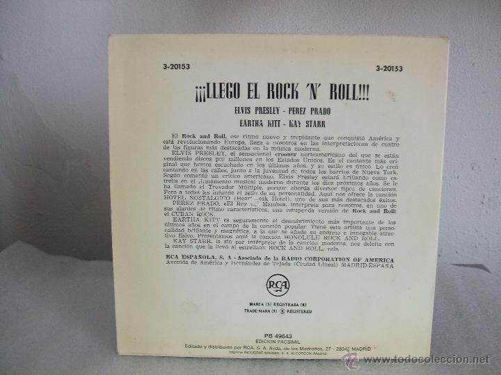 Discos de vinilo: LLEGÓ EL ROCK AND ROLL - EP, ELVIS PRESLEY+3 - RCA 3-20153 / 1956 - fascimil 1987 - Foto 2 - 51974319