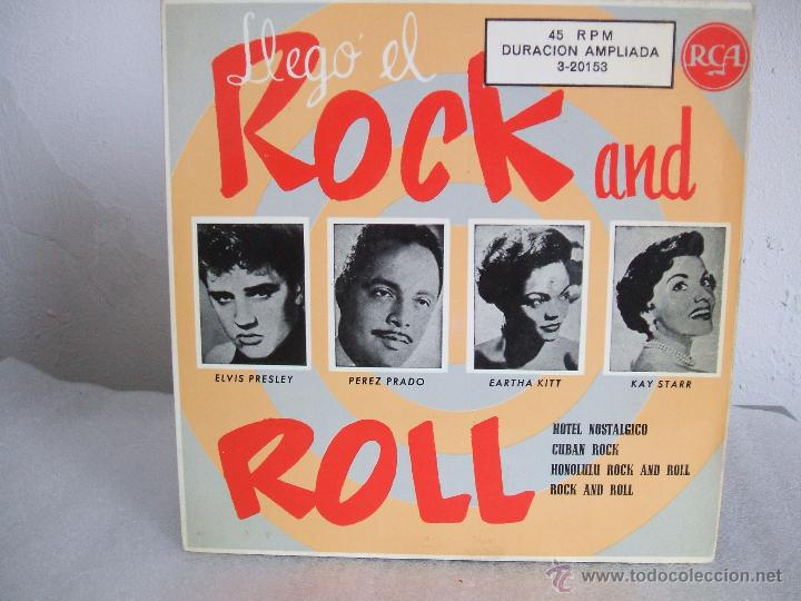 LLEGÓ EL ROCK AND ROLL - EP, ELVIS PRESLEY+3 - RCA 3-20153 / 1956 - FASCIMIL 1987 (Música - Discos de Vinilo - EPs - Rock & Roll)