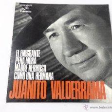 Discos de vinilo: EP JUANITO VALDERRAMA. EL MIGRANTE- PENA MORA - MADRE HERMOSA - COMO UNA HERMANA . Lote 51997510