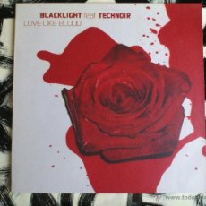 Discos de vinilo: BLACK LIGHT FET. TECHNOIR - LOVE LIKE BLOOD - DOBLE VINILO - MAXI - SONY - 2002. Lote 52001357