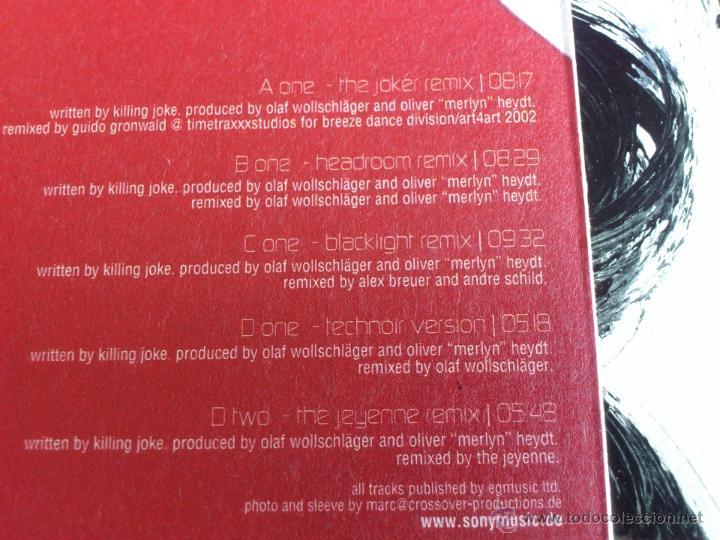 Discos de vinilo: BLACK LIGHT FET. TECHNOIR - LOVE LIKE BLOOD - DOBLE VINILO - MAXI - SONY - 2002 - Foto 3 - 52001357