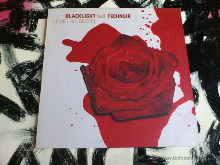 Discos de vinilo: BLACK LIGHT FET. TECHNOIR - LOVE LIKE BLOOD - DOBLE VINILO - MAXI - SONY - 2002 - Foto 4 - 52001357