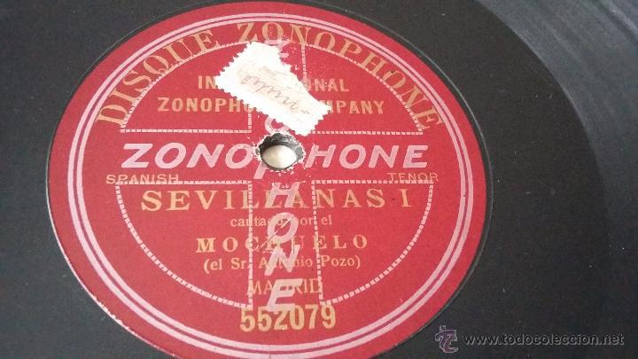 Discos de vinilo: Disco de pizarra zonophone flamenco - Foto 2 - 52002798
